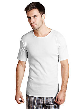 XXXL 2 Pack 4-Way Stretch Cotton Cool & Fresh™ Vests with StayNEW™, WHITE, catlanding