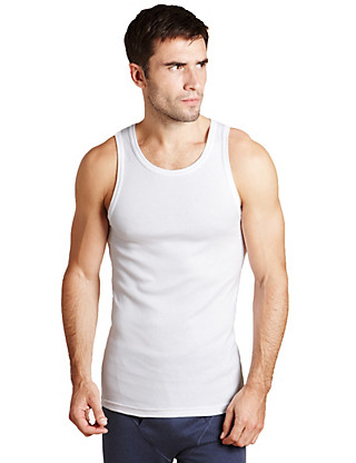3 Pack Pure Cotton Sleeveless Vests Clothing