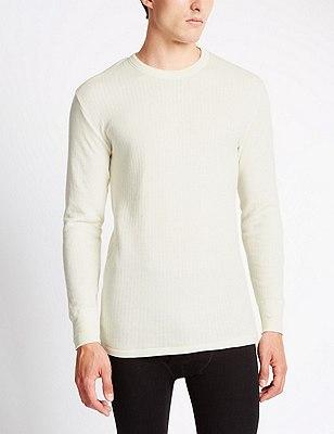 Long Sleeve Thermal Vest with Merino Wool, CREAM, catlanding