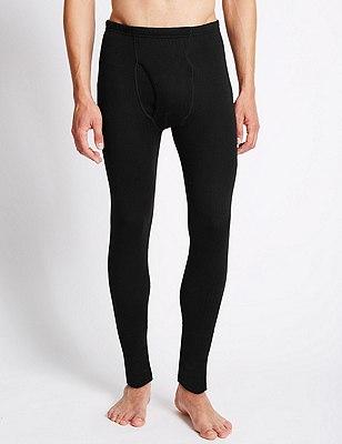 Thermal Long Pants with Merino Wool, BLACK, catlanding