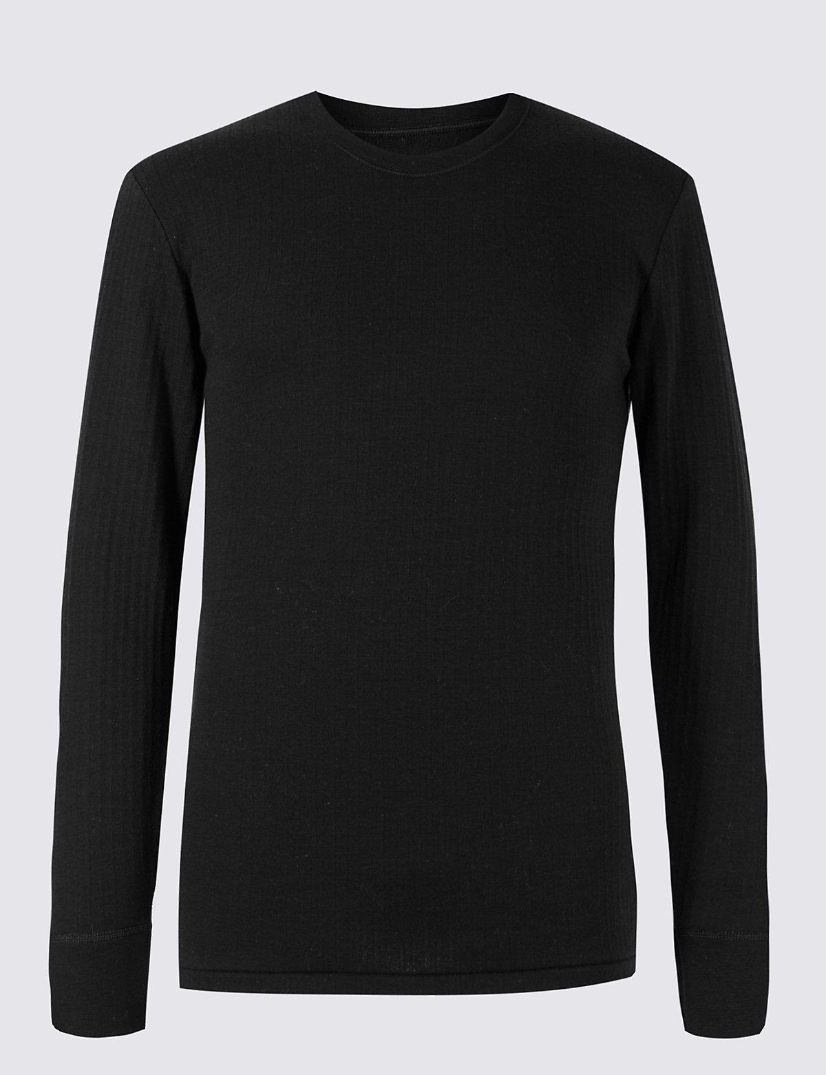 Терможилет мужской с добавлением шерсти M&S Collection. Цвет: черный