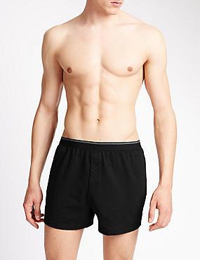 XXXL 3 Pack Pure Cotton Cool & Fresh™ Boxers, BLACK, catlanding