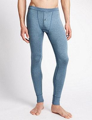 2 Pack Heatgen™ Thermal Long Pants, BLUE, catlanding