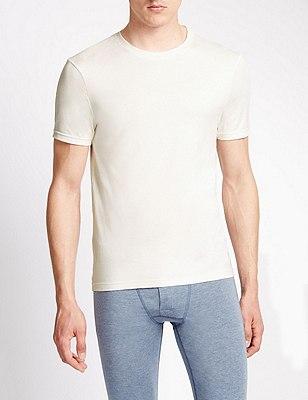 2 Pack Heatgen™ Short Sleeve Thermal Vest, CREAM, catlanding