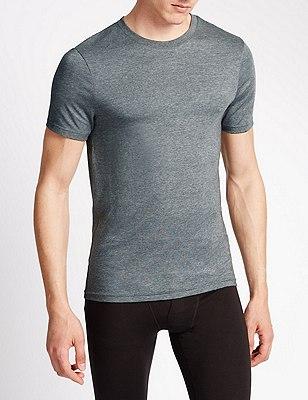 2 Pack Heatgen™ Short Sleeve Thermal Vest, GREY, catlanding