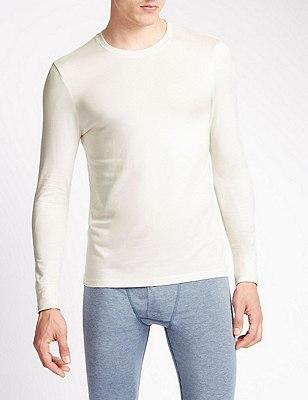 2 Pack Heatgen™ Crew Neck Thermal Vest, CREAM, catlanding