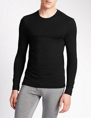 2 Pack Heatgen™ Crew Neck Thermal Vest, BLACK, catlanding