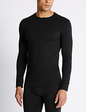 2 Pack Heatgen™ Long Sleeve Vests, BLACK, catlanding