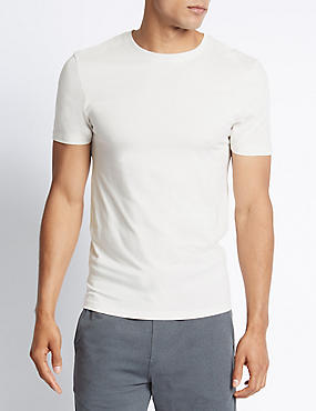 2 Pack Heatgen™ Thermal Short Sleeve Vests, IVORY, catlanding