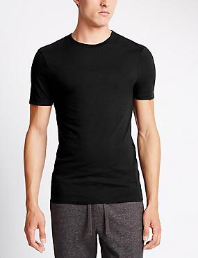 2 Pack Heatgen™ Thermal Short Sleeve Vests, BLACK, catlanding