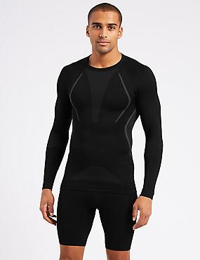 Active Long Sleeve Vest, BLACK, catlanding