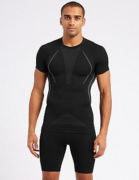 Active Short Sleeve Vest, BLACK, catlanding