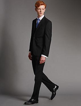 Grandes tailles – Veste noire en laine coupe ajustée, BLACK, catlanding