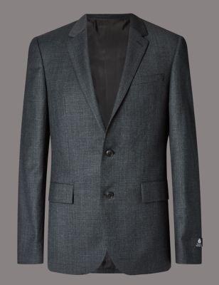 Слегка приталенный пиджак из шерсти с 2 пуговицами Buttonsafe™ Autograph T150555A