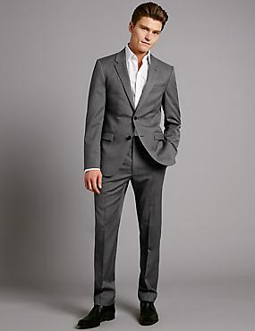Big & Tall Grey Tailored Fit Wool Jacket, GREY, catlanding