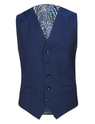 Pure Wool 5 Button Waistcoat Clothing