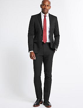Big & Tall Black Regular Fit Jacket, BLACK, catlanding