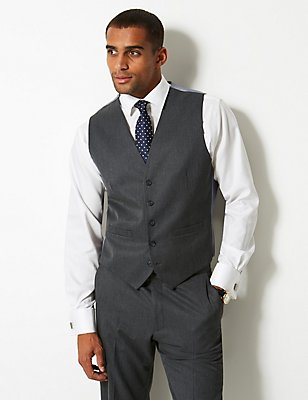 Grey Regular Fit Waistcoat, GREY, catlanding