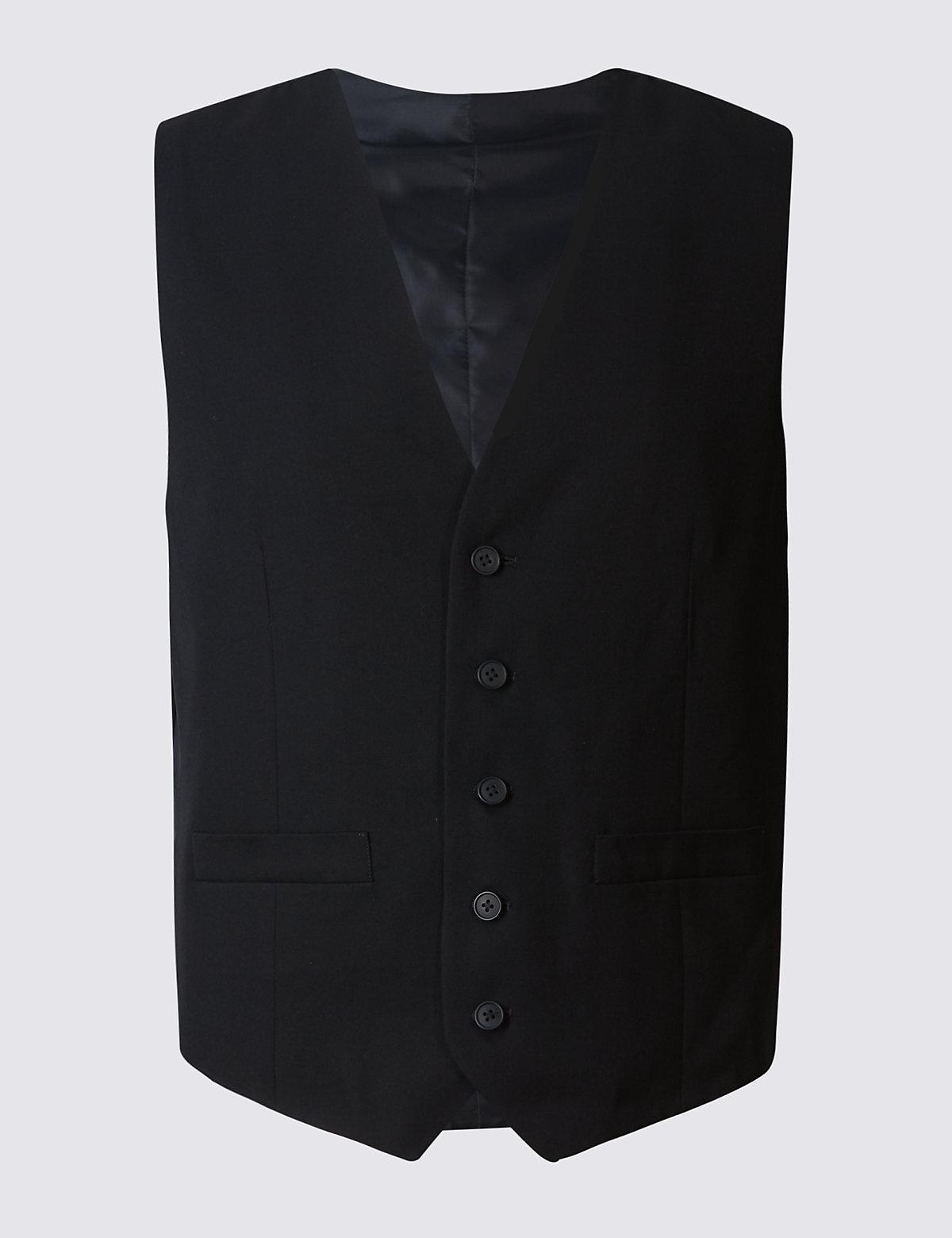 Мужской жилет классического кроя M&S Collection. Цвет: темно-синий
