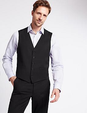 Gilet de costume couleur charbon coupe standard, CHARBON, catlanding