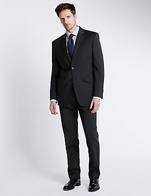 Charcoal Regular Fit Jacket, CHARCOAL, catlanding