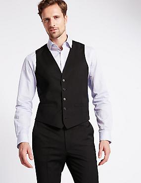 Charcoal Slim Fit Waistcoat, CHARCOAL, catlanding