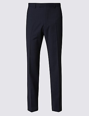 Indigo Regular Fit Trousers, INDIGO, catlanding