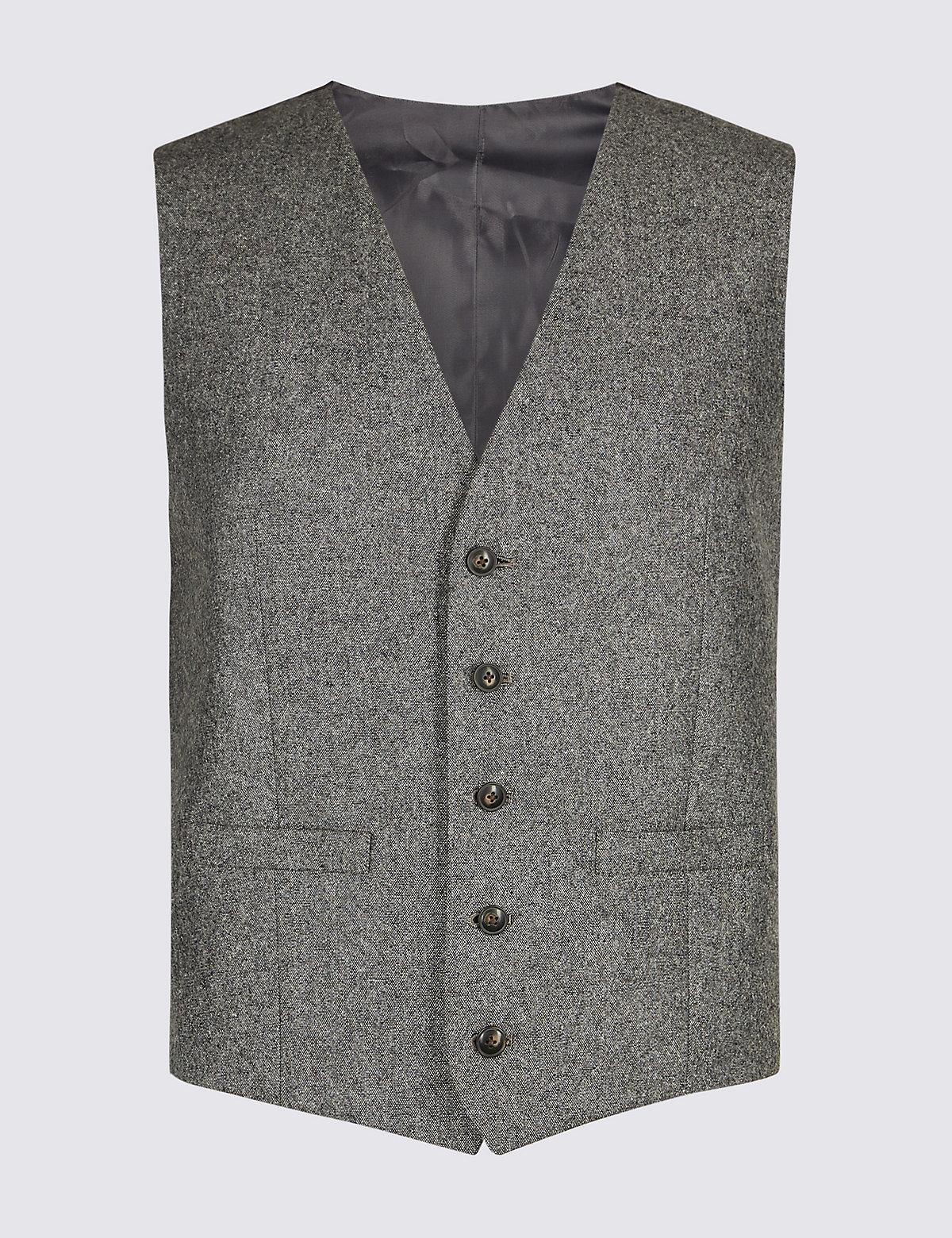Жилет мужской текстурированный M&S Collection. Цвет: темный серый