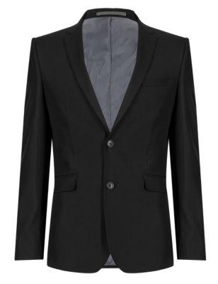 Однобортный пиджак суперслим на 2 пуговицах