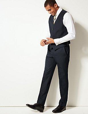 Navy Tailored Fit Waistcoat, NAVY, catlanding
