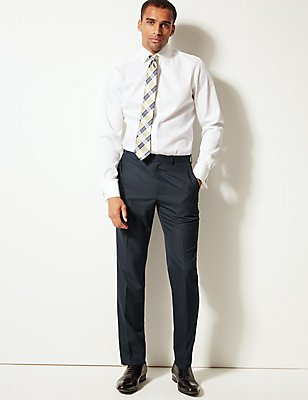 Big & Tall Navy Tailored Fit Trousers, NAVY, catlanding