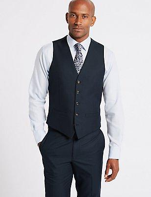 Blue Slim Fit Waistcoat, NAVY, catlanding