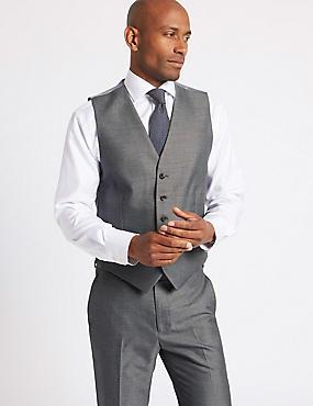 Gilet de costume gris coupe ajustée, GRIS, catlanding