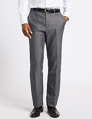 Big & Tall Grey Tailored Fit Trousers, GREY, catlanding