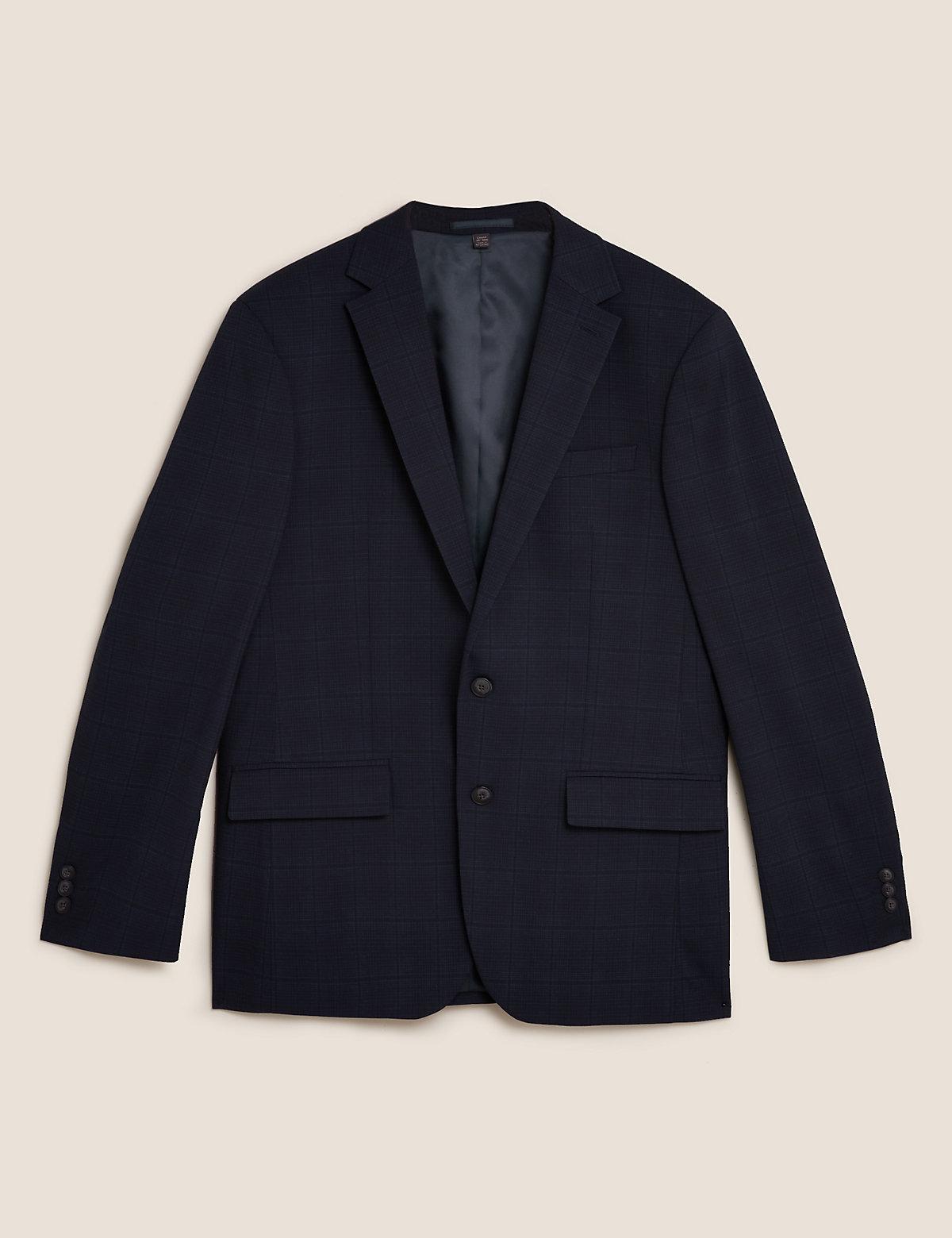 Пиджак в клетку стандартного кроя
