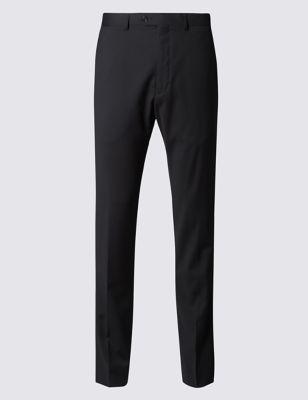 Узкие саржевые брюки без защипов