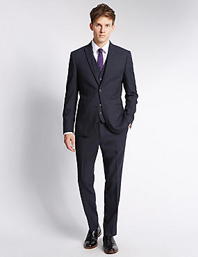 Navy Modern Slim Fit Jacket, NAVY, catlanding