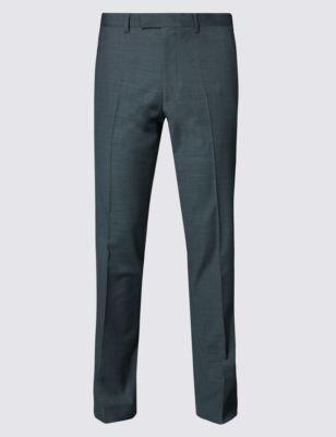 Узкие брюки без защипов с геометрической текстурой
