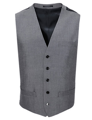 Slim Fit 5 Button Waistcoat Clothing