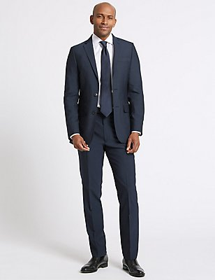 Big & Tall Indigo Tailored Fit Jacket, INDIGO, catlanding