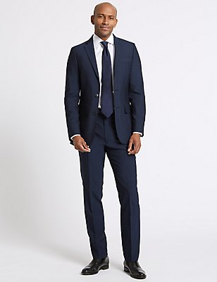 Indigo Tailored Fit Jacket, INDIGO, catlanding