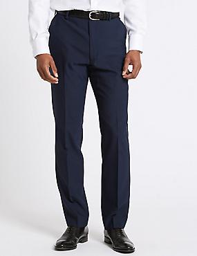 Big & Tall Indigo Tailored Fit Trousers, INDIGO, catlanding