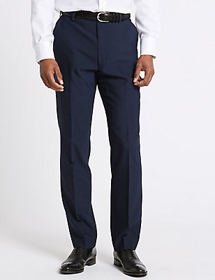 Indigo Tailored Fit Trousers, INDIGO, catlanding