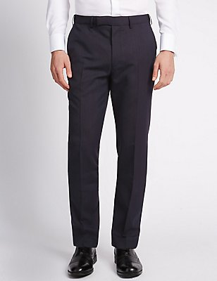 Big & Tall Blue Slim Fit Trousers, BLUE, catlanding