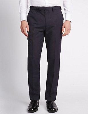 Blue Slim Fit Trousers, BLUE, catlanding
