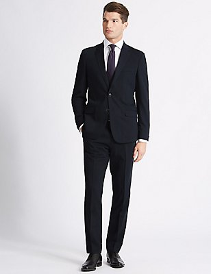 Navy Slim Fit Jacket, NAVY, catlanding