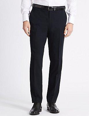 Navy Slim Fit Trousers, NAVY, catlanding