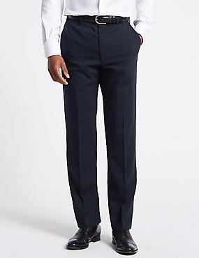 Big & Tall Navy Regular Fit Trousers, NAVY, catlanding