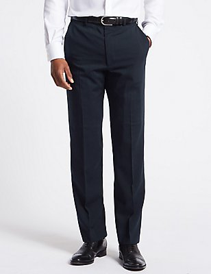 Navy Regular Fit Trousers, NAVY, catlanding