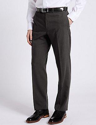 Big & Tall Charcoal Regular Fit Trousers, CHARCOAL, catlanding